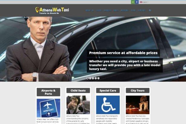 Ιστοσελίδα κρατήσεων WordPress athenswebtaxi.gr